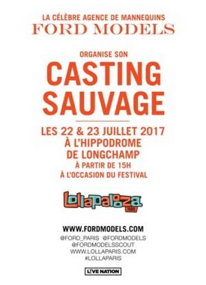 Casting Sauvage Ford Models Paris