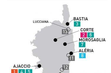 Corse - La carte des musées Corse