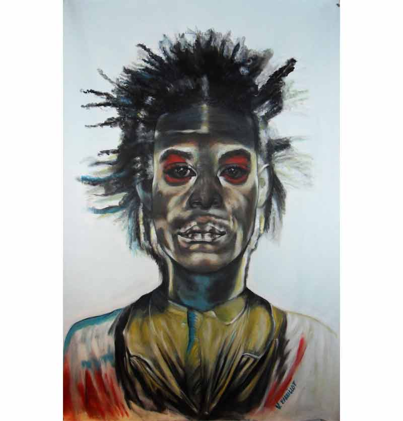 Véronique Barrillot - Basquiat vs Basquiat autoportrait