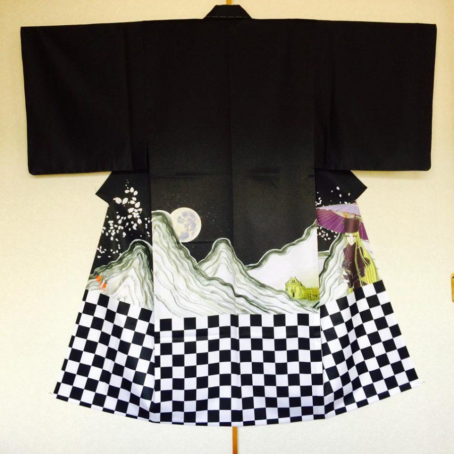 Kimono2- Artiste RYUICHI FUJISAWA - expo Sumi no keshiki