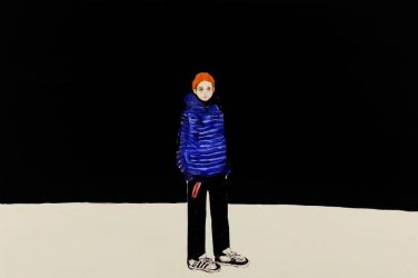 Chisato Tanaka - Alone in the World, acrylique et huile sur toile, 90,9 x 116,7 cm