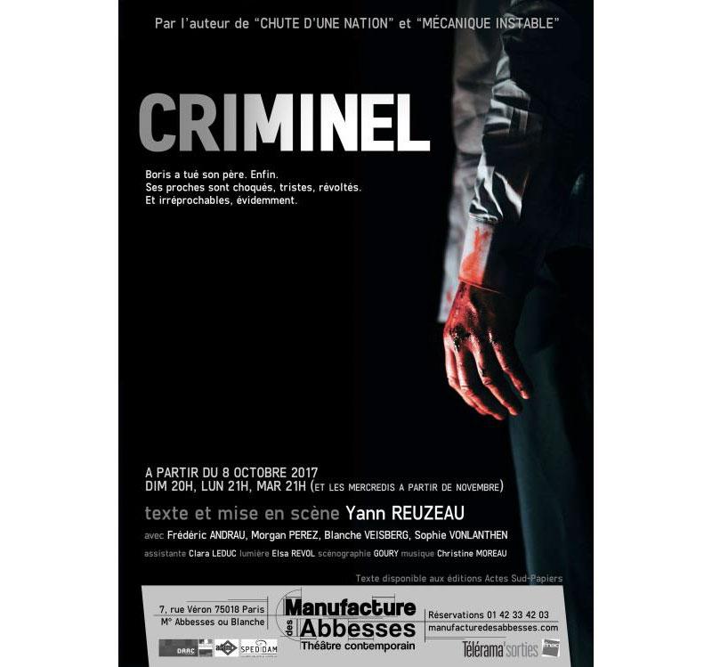 Criminel de Yann Reuzeau