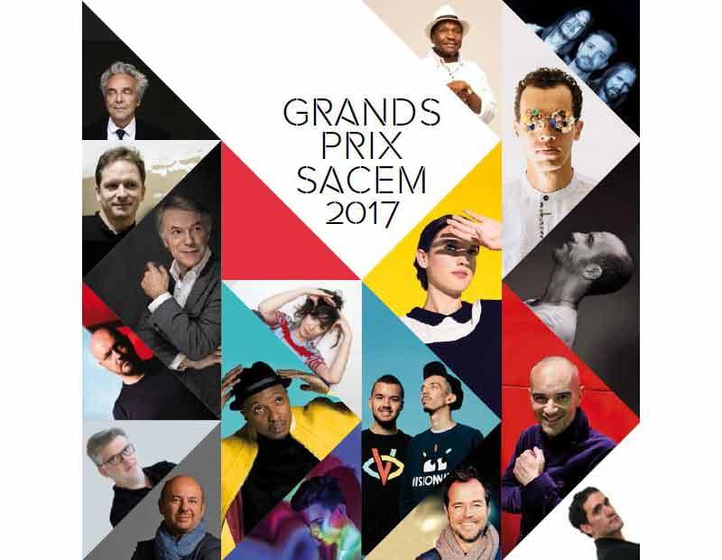 Sacem : Grands Prix Sacem 2017