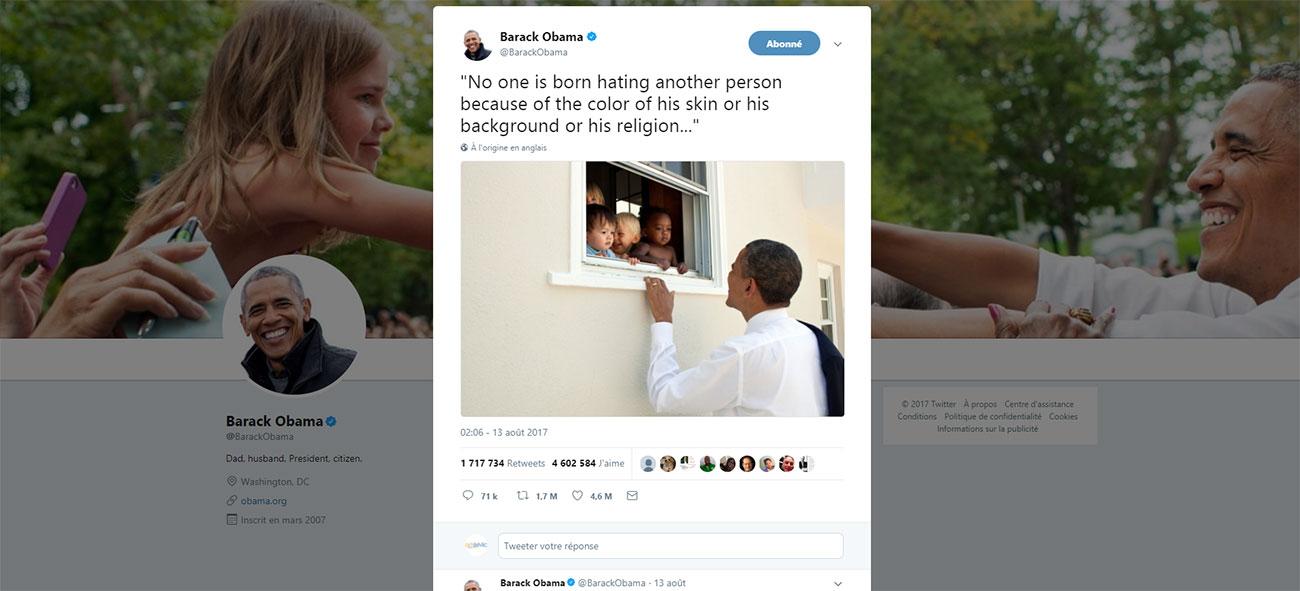 Tweet de Barack Obama