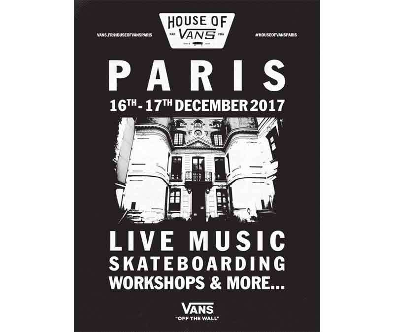 House of Vans Paris se tiendra dans un lieu tenu secret