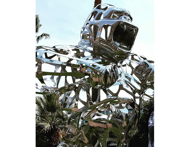 Richard Orlinski : Lace Wild Kong