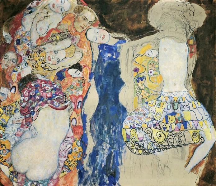 Gustav Klimt, La mariée, 1917/18 (inachevé) (Musée Leopold : « Gustav Klimt »)