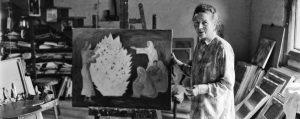 Hélène de Beauvoir dans son atelier