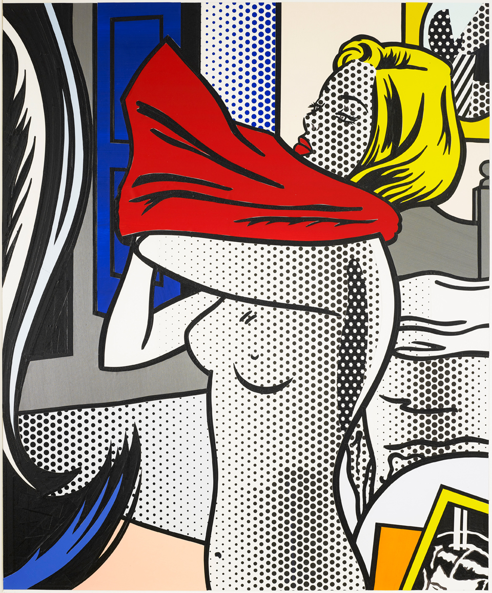 Roy Lichtenstein -Collage for Nude with red Shirt , 1995 Technique mixte - 99,5 x 82,5 cm © Collection Carmignac / The estate of Roy Lichtenstein New York/Adagp, Paris 2017