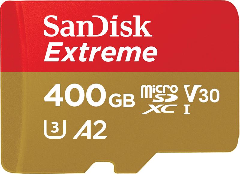 SanDisk : SD UHS-IXC™ SanDisk Extreme® 400 Go1