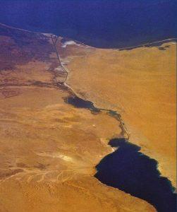 Vue satellite du Canal de Suez