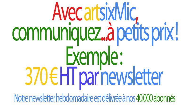 Communiquez : Avec artsixMic, communiquez...à petits prix !