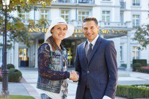 Martina Hingis et Patrick Vogler - PDG du Grand Resort Bad Ragaz