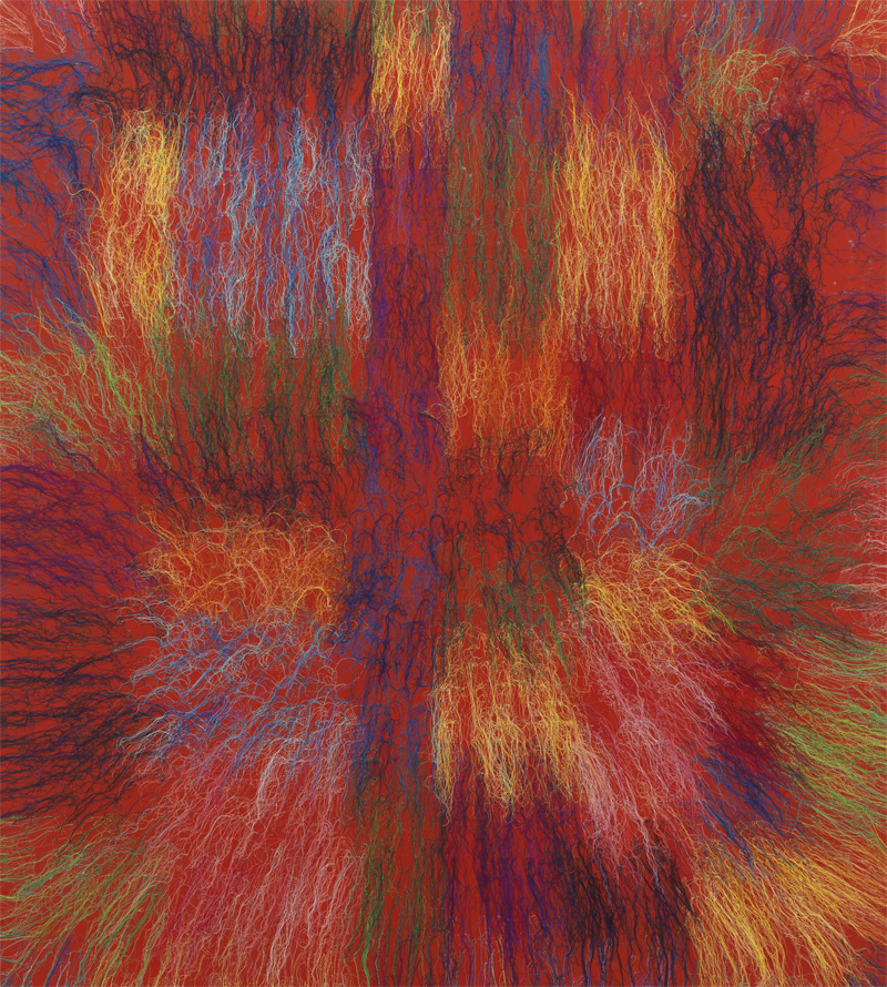 Ghada Amer : Red Bang - RFGA, 2014