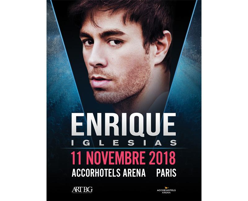 Enrique Iglesias à l'AccorHotels Arena
