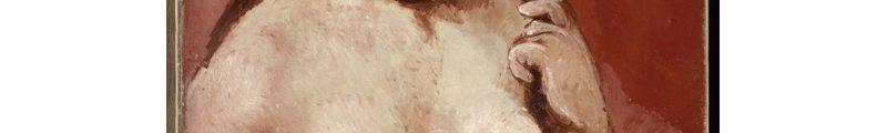 Picasso : Nu sur fond rouge 1905-1906 Huile sur toile H. 81 ; L. 54 cm Paris, musée de l'Orangerie, collection Jean Walter et Paul Guillaume © Succession Picasso 2018 © RMN-Grand Palais (musée de l'Orangerie) / Hervé Lewandowski