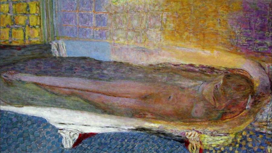 musée Bonnard : Pierre Bonnard, Nu dans le bain, ou Nu à la baignoire, 1937 Paris, musée d'Art moderne de la Ville de Paris © RMN/Agence Bulloz