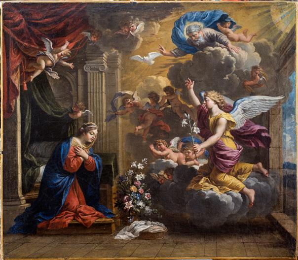 Charles POERSON (1609-1667) L'Annonciation Huile sur toile Collection Motais de Narbonne © Orléans, Musée des Beaux-Arts / Christophe Camus
