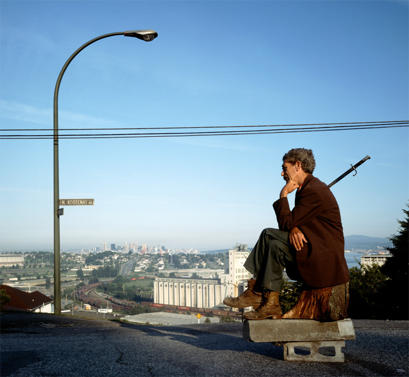 Jeff Wall, The Thinker, 1986, transparency in lightbox, 216 x 229 cm