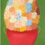 Fernando Botero : Fleurs, huile sur toile, 176 x 115 cm, Courtesy de Custot Gallery Dubai et de l'artiste