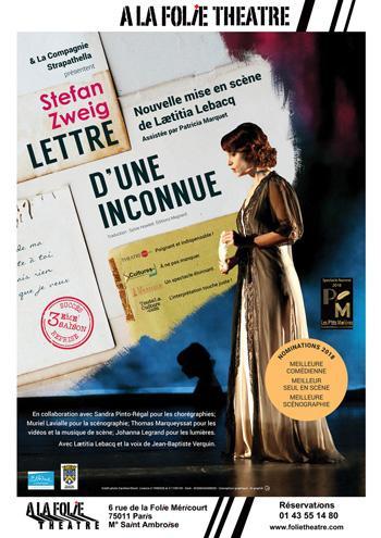 Stefan Zweig : Lettre d'une inconnue