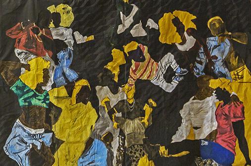 Maxwell Alexandre, Série Pardo é Papel - A lua quer ser preta, se pinta no eclipse (detail), 2018 Courtesy A Gentil Carioca, Rio de Janeiro