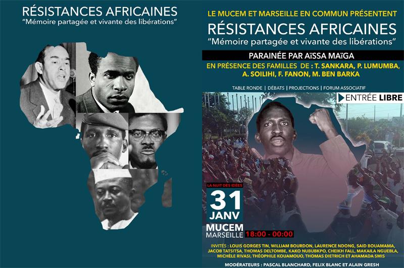 La Nuit des idées au MUCEM - Résistances africaines / Mémoire partagée et vivante des libérations