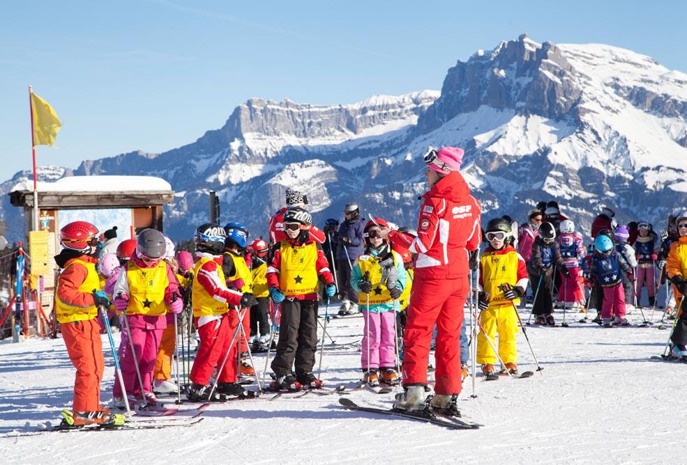 Cours de ski enfants, domaine skiable de Megève - Pays du Mont-Blanc (74)