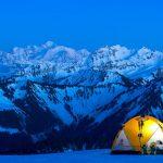 Bivouac à la Pointe d'Ireuse, vue sur le Mont-Blanc - massif du Chablais (74)