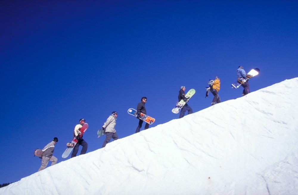 nowboard à St Gervais - Massif du Mont Blanc (74)