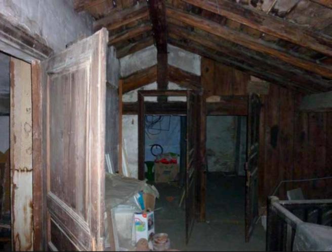 Le grenier de la maison toulousaine dans lequel a été retrouvé le tableau.