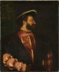 François Ier, roi de France, Tiziano Vecellio, dit Titien Vers 1539 Paris, Musée du Louvre, Département des Peintures