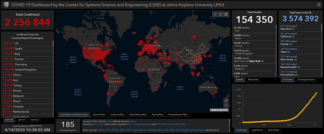 Carte du Coronavirus