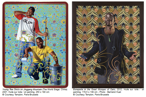 Kehinde Wiley au Centre d'art La Malmaison