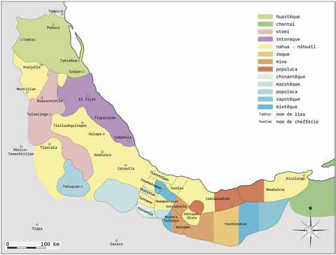 Les langues parlées au 16e siècle dans la région de la côte du golfe du Mexique