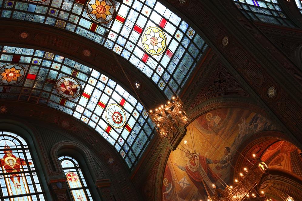 La cathédrale patriarche de la résurrection du Christ by Anna Pavlikovskaya