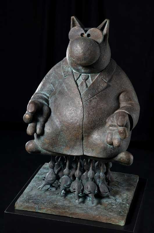 Bronze de Philippe Geluck